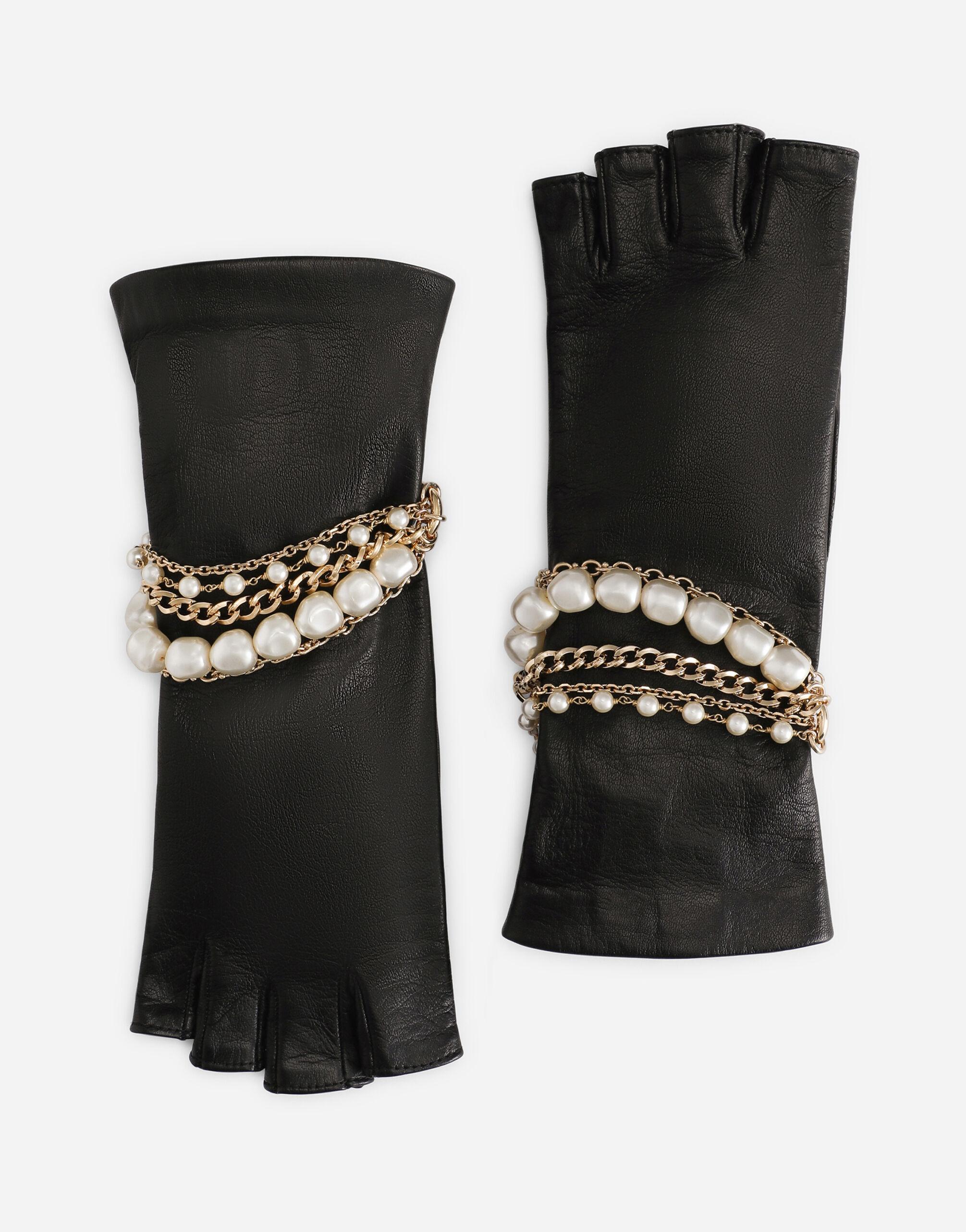 Guanti in nappa con bracciale gioiello