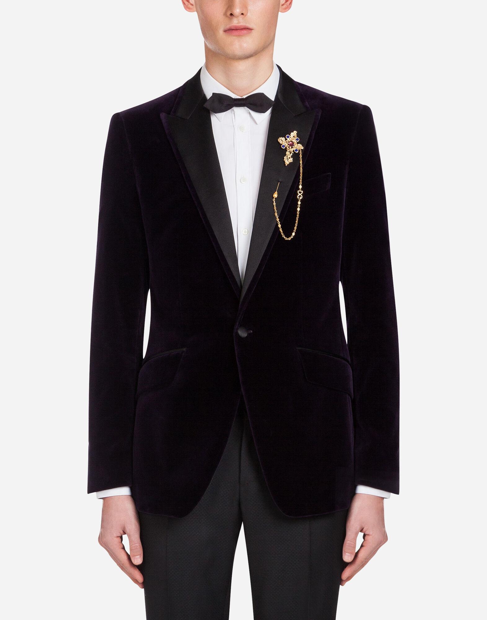 Giacche e Blazer da Uomo | Dolce&Gabbana GIACCA TUXEDO IN VELLUTO