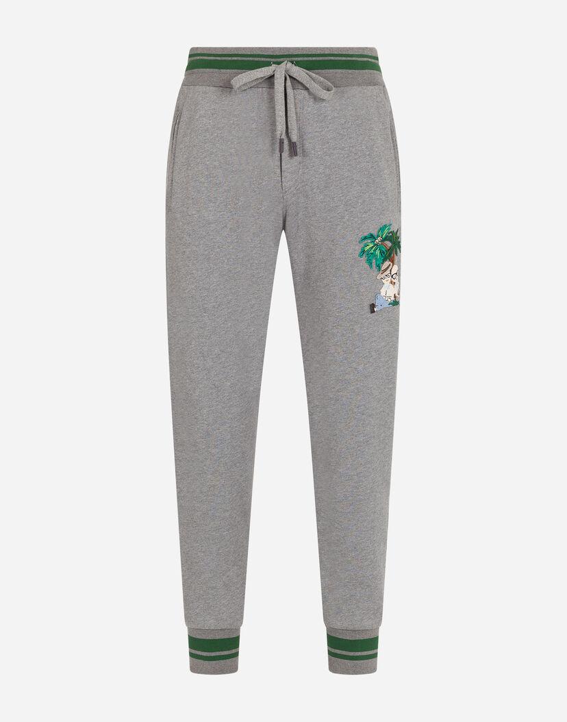 Activewear Hombre Dolce Gabbana Pantalones De Chandal De Jersey Con Parches