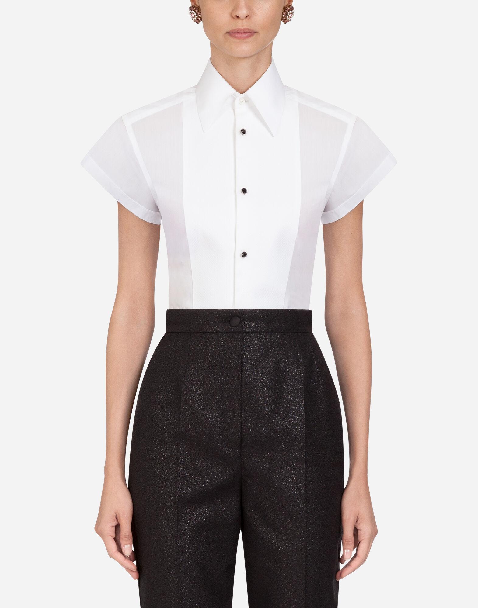 Femme Manches 3//4 Popeline Chemisier-Bureau Smart Casual Wear