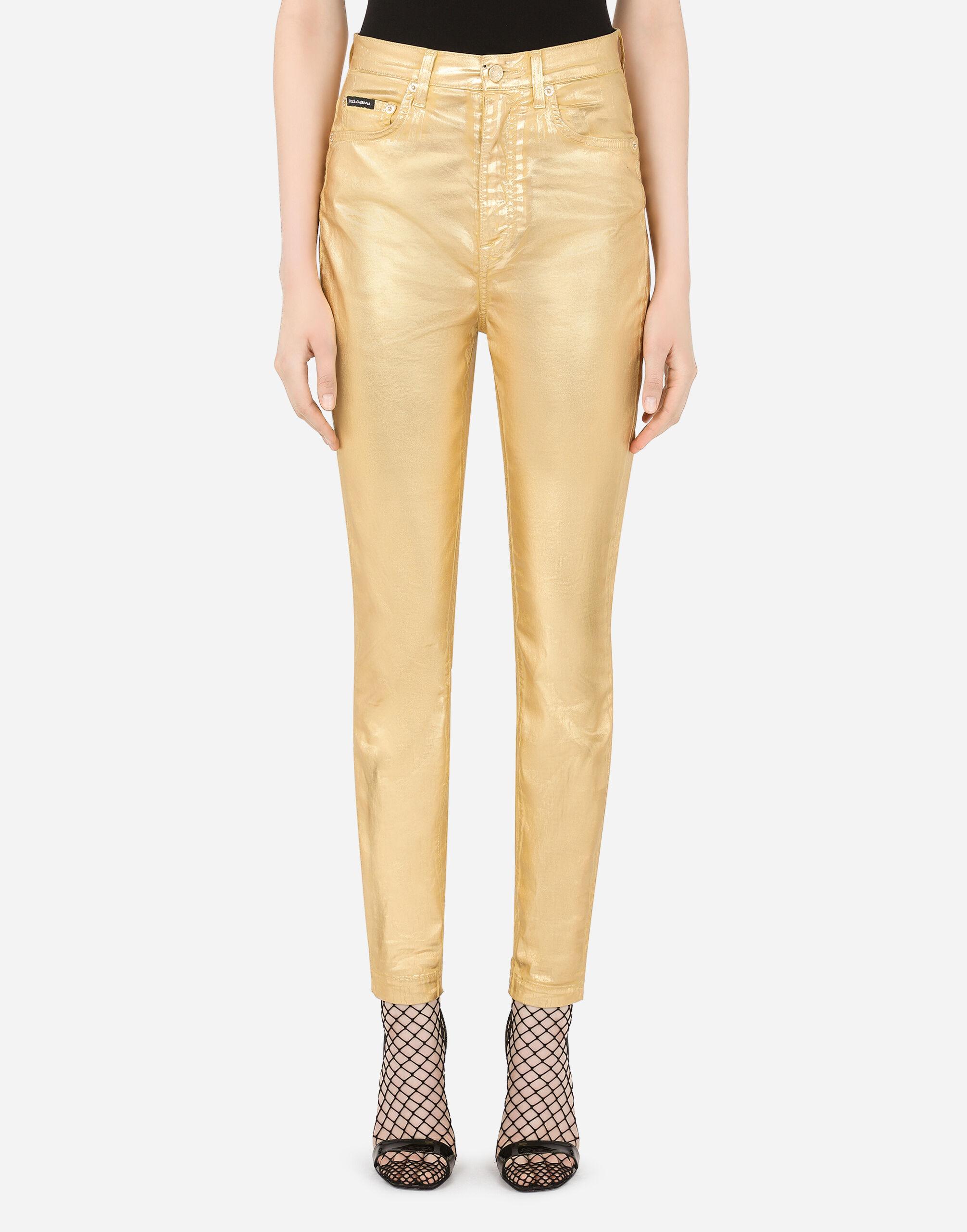 Jeans Grace in denim laminato