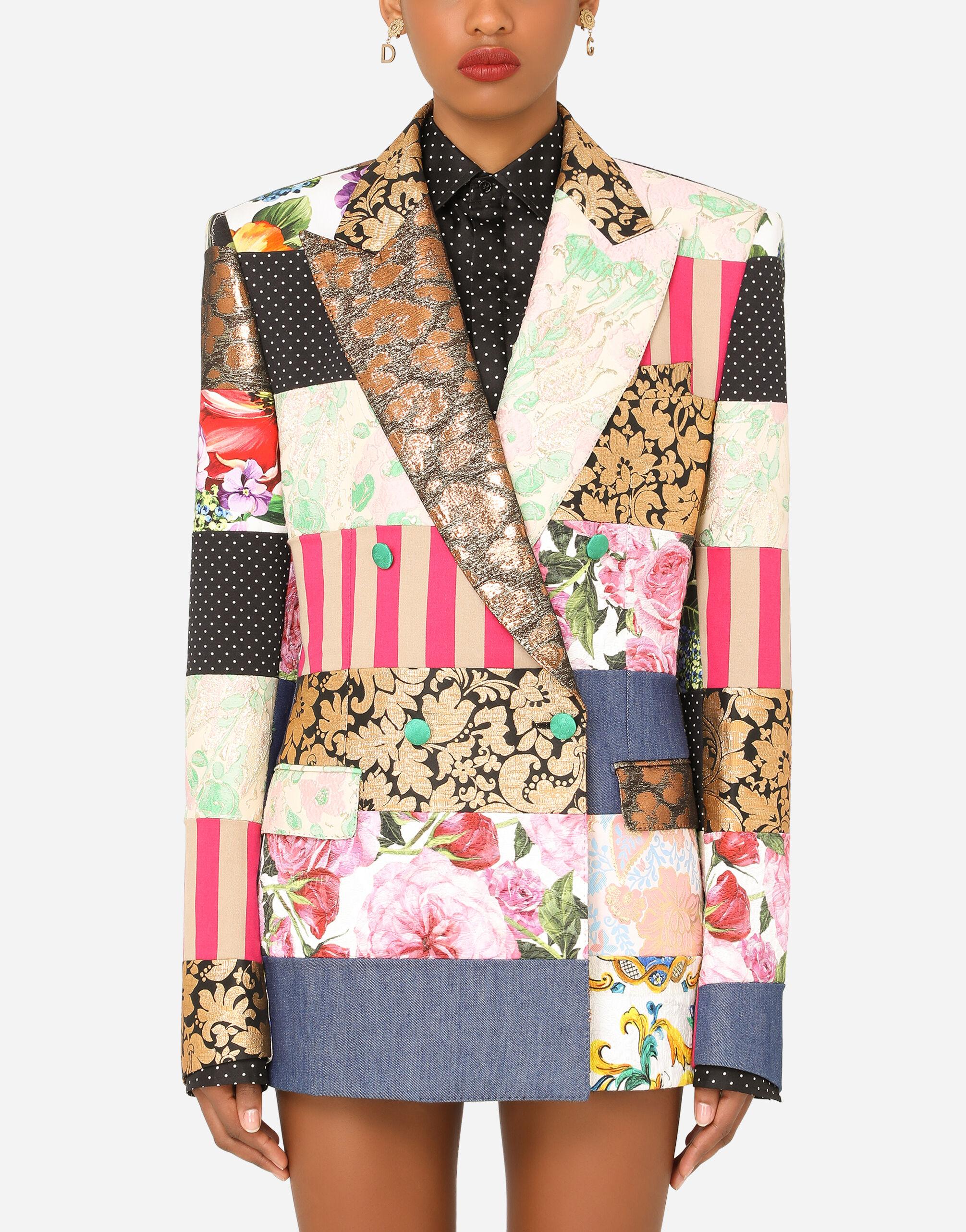 Giacca maschile doppiopetto jacquard patchwork