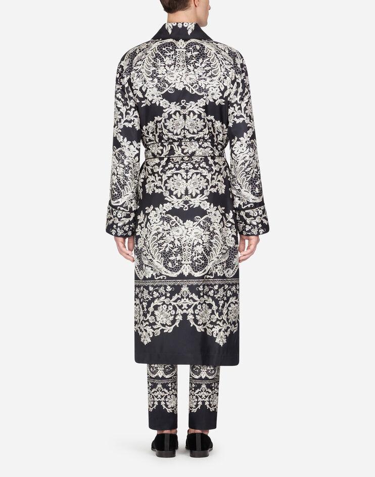Men S Coats And Blazers Dolce Gabbana Printed Silk Robe