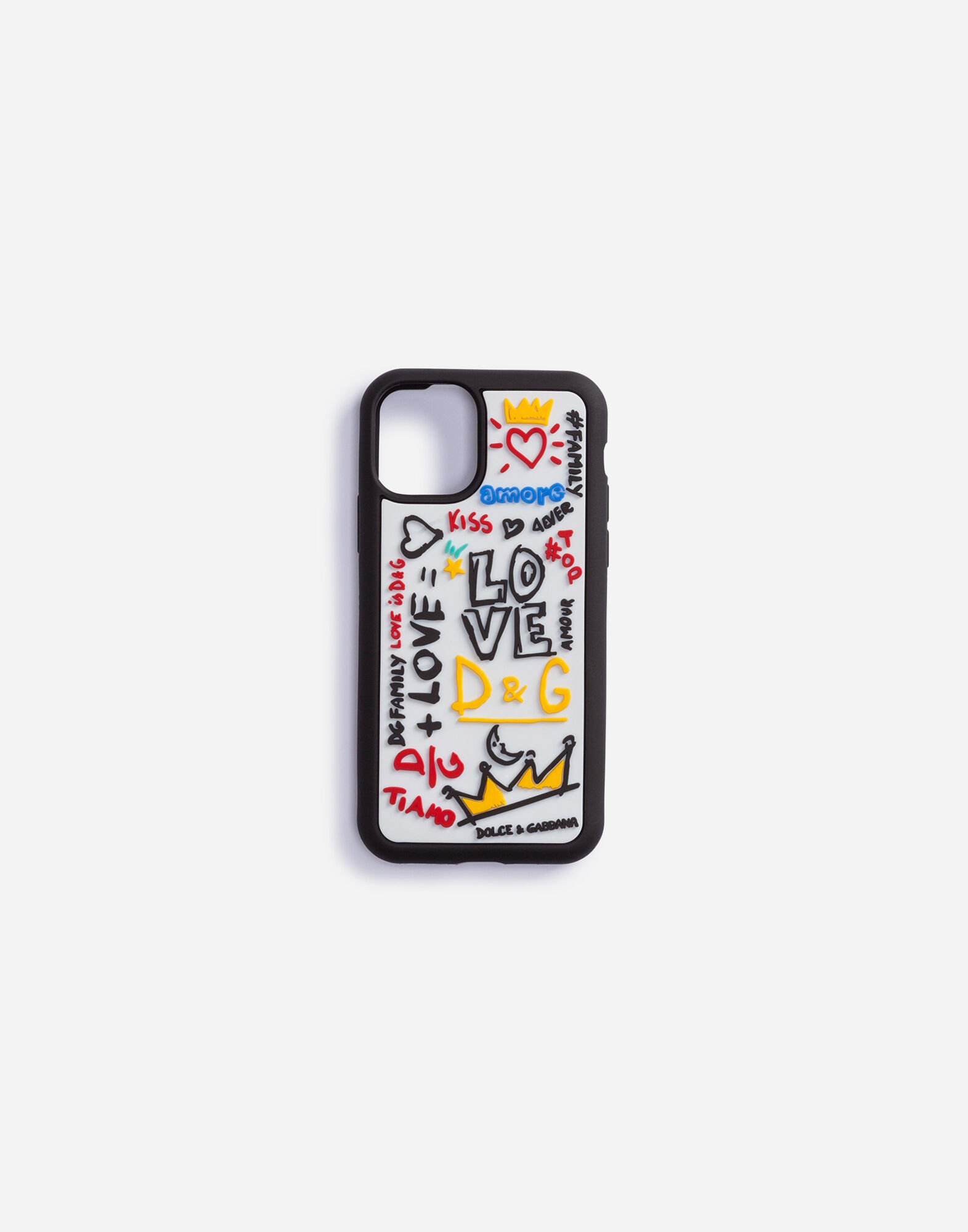 Technology Donna | Dolce&Gabbana - Cover iPhone X-XS in gomma con ...