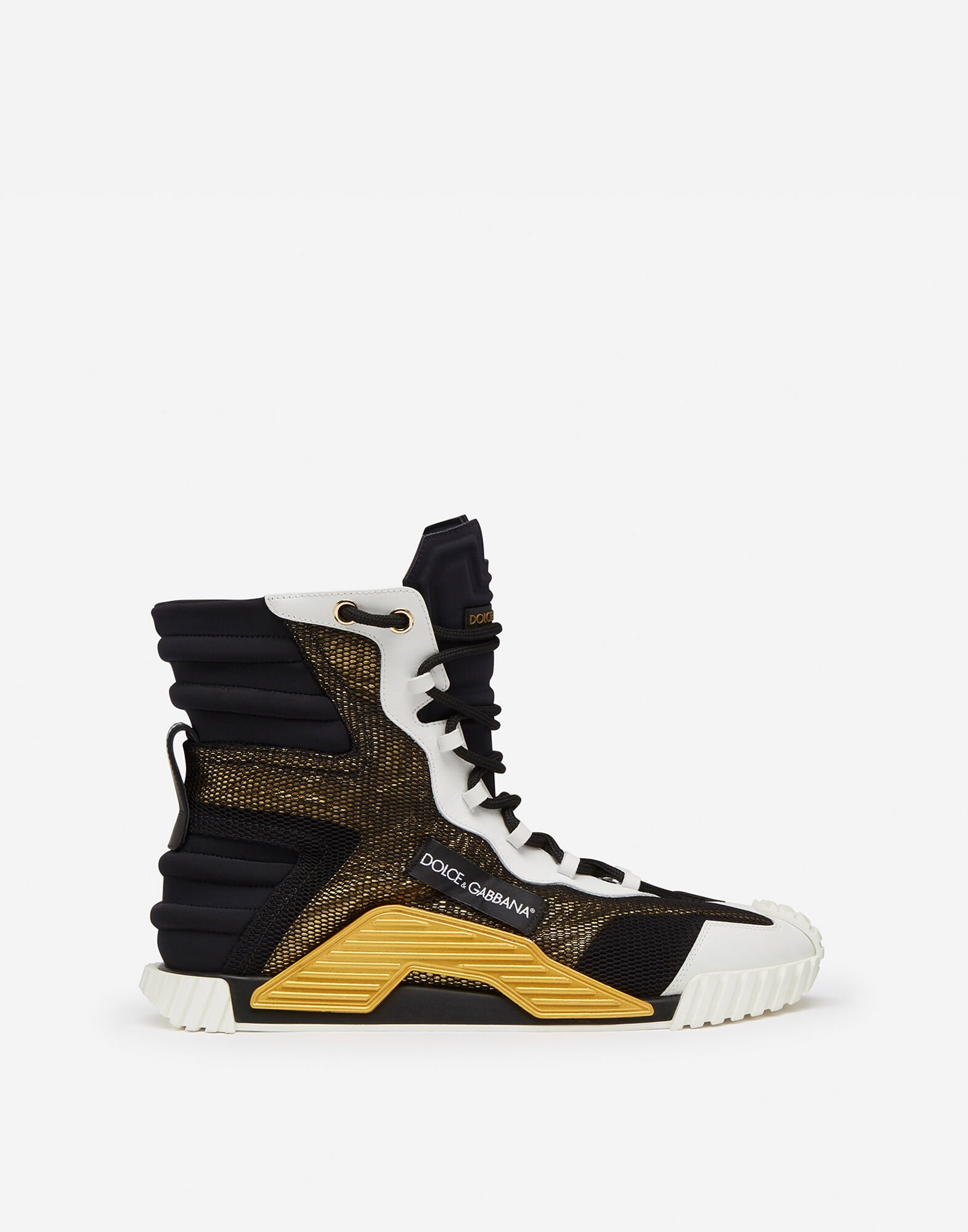 HIGH TOP NS1 SNEAKERS IN MIXED MATERIALS