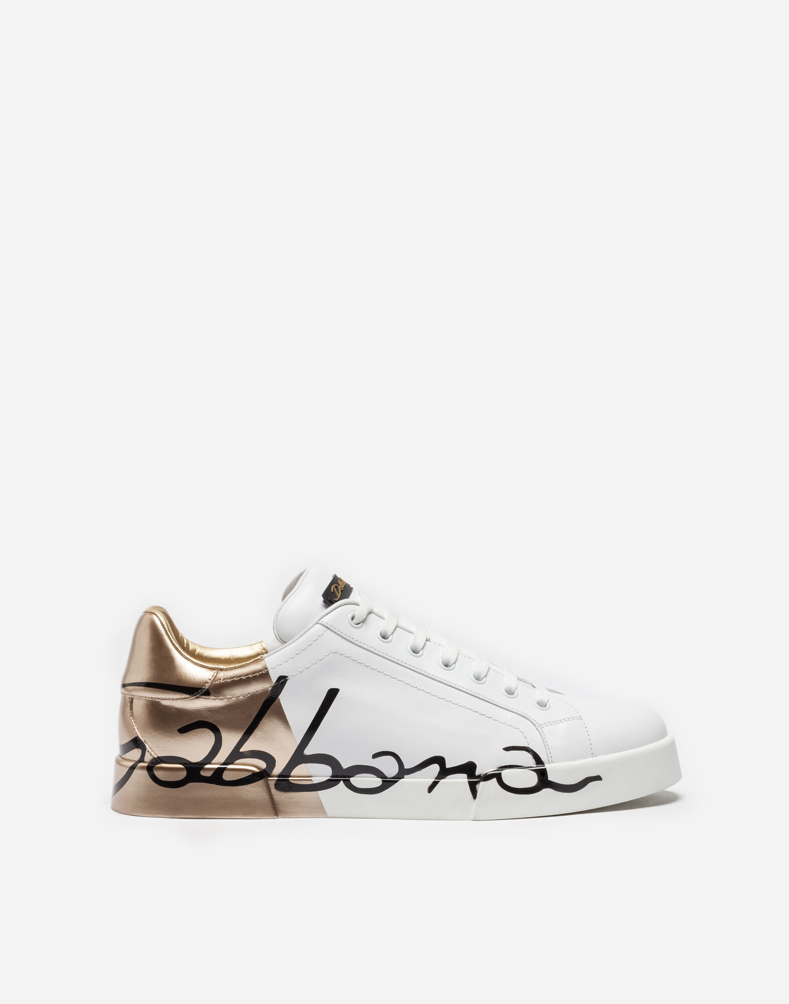 dolce & gabbana men's leather sneakers shoes