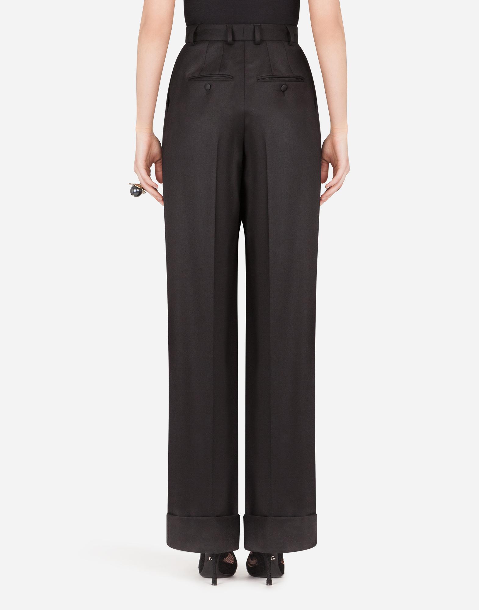 Pantalones Mujer Dolce Gabbana Pantalones Pata De Elefante De Gabardina